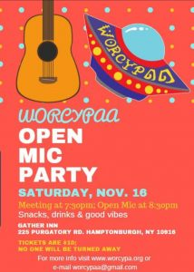 WORCYPAA - Open Mic Party @ Gather Inn